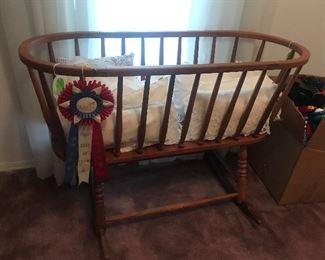 Award Winning Vintage Rocking Cradle