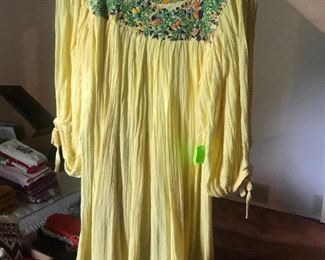 Vintage Gauze Mexican Dress