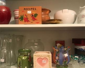 Mid-Century Recipe Box, decorative Pots, Vases