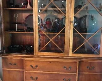 Antique China Cabinet filled with 1878 Cape Cod Collection