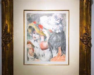 Lot 258 PiereAuguste Renoir Lithograph
