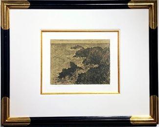 Lot 951 Claude Monet Original Lithograph  La Cote