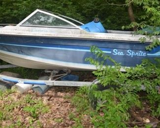 Sea Sprite Speed Boat with Trailer and Outboard Motor
