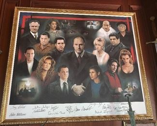 Cast Signed Sopranos with pictures of each cast member signing