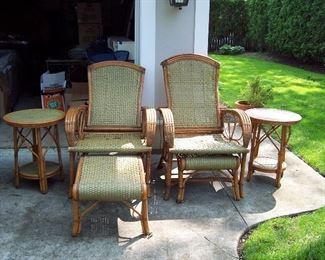 Bamboo and Ratan Patio Set