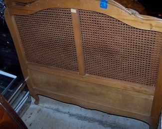 Vintage Caned Bed Headboard