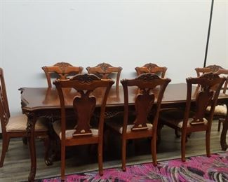 Formal dinning table & 8 chairs