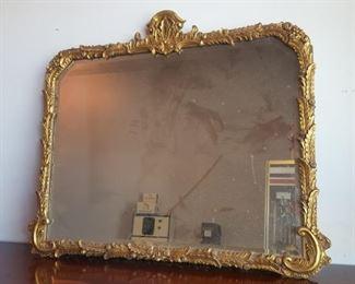 Gold Gilt beveled mirror