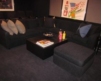 Two Custom Sectional Sofas