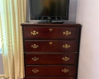 5 drawer tall boy chest of drawers