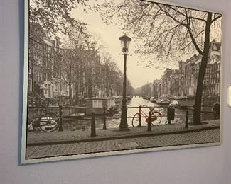 Large canvas framed photo of Amsterdam