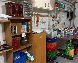 Garage items, cleaners and chemicals