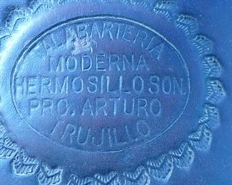 Close up of stamp on saddle
