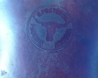 Stamp located in saddle seat