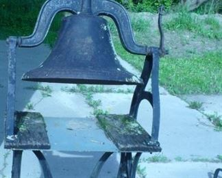 CAST IRON BELL AND STAND