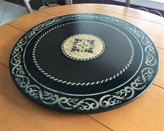"LAZY SUSAN ON TABLE - 30"" ROUND"