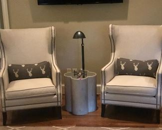 Bernhardt wing back chairs