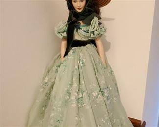 "Scarlett O'Hara "" Gone With The Wind"" doll made by Franklin Heirloom Dolls"