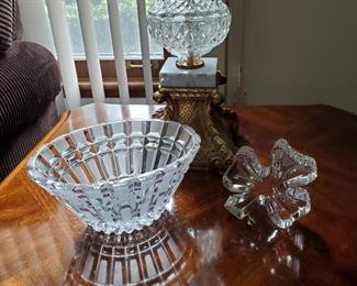 Crystal Bowl & Crystal Cloverleaf