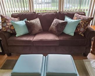 Gently Used Chocolate Brown Couch