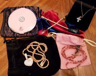 Jewelry & A Swarovski Compact