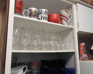 Pretty Etched Glassware, etc
