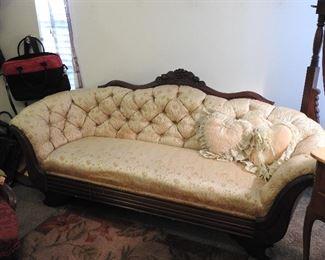 Diminutive Victorian Sofa...Very Sweet!!  No...it's not full sized!