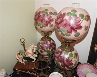 Vintage Gone with the Wind Lamps