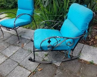 Antique Wrought Iron Furniture...VERY Unusual Rocking Chair!!