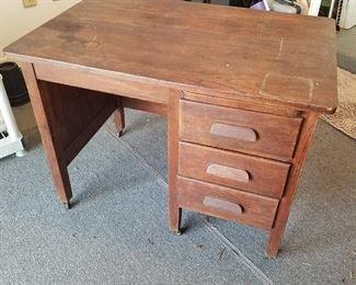 Child-Sized Oak Desk