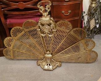 """""""Peacock Fan"""" Fireplace Screen"""