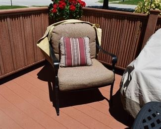 Patio Chair with Cushion and Pillow