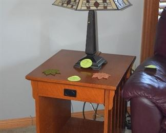 End Table and Table Lamp
