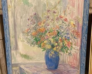 "Sallie hall Stekette 1882-1939 Still life of wildflowers  36"" by 30"""