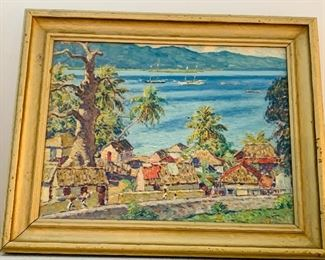 "Will Howe Foote Jamaica oil on wood panel sighed lower right, 24"" x 16"""