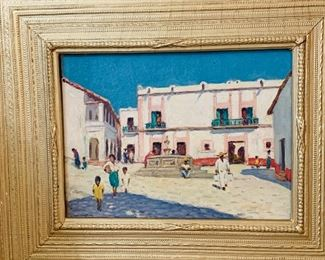"Will Howe Foote Taxco, Mexico oil on canvas board, 12"" x 16"" signed lower left"