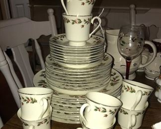 Holly china set