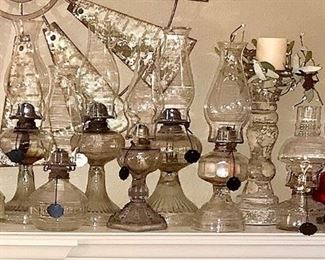 Clear Glass oil lamps