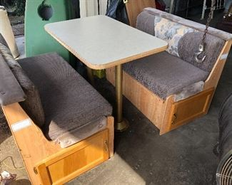 RV bench seat with table