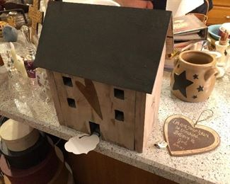 PriMitiVe wood house with nightlight