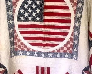 King Size patriotic flag quilt