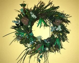 Birdhouse wreath