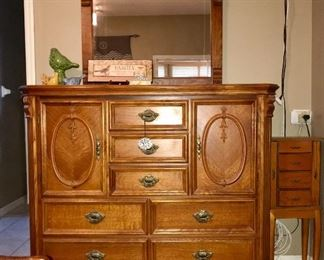 Bassett tall dresser with mirror