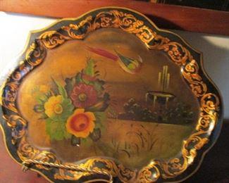 painted tin tray
