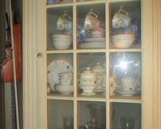 corner cabinet & Victorian china
