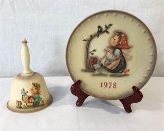 M.I. Hummel Goebel 1978 Plate & Bell 3 Piece https://ctbids.com/#!/description/share/171491