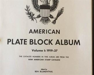 Three Volumes of American Plate Blocks 1919-1960 https://ctbids.com/#!/description/share/171496