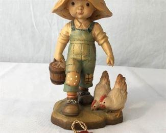 ANRI Sarah Kay Vintage Hand Carved Figurine ''Chores'' https://ctbids.com/#!/description/share/171495