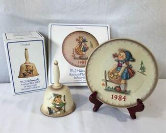 M.I. Hummel Goebel 1984 Plate & Bell 3 Piece https://ctbids.com/#!/description/share/171500
