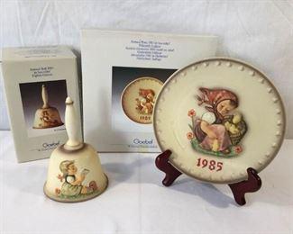 M.I. Hummel Goebel 1985 Plate & Bell 3 Piece: https://ctbids.com/#!/description/share/171502